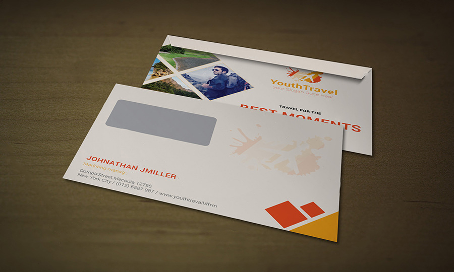 Awesome Travel Agency Envelope Design