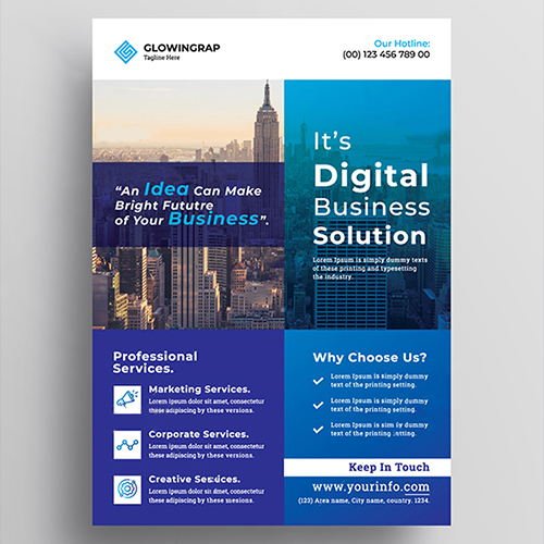 Best Digital Business Solution flyer design