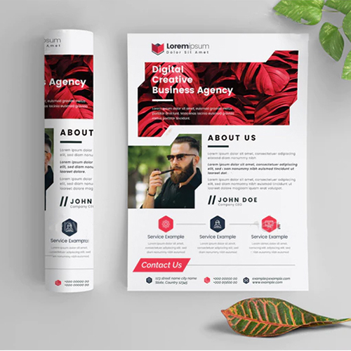 Digital creative Agency flyer design