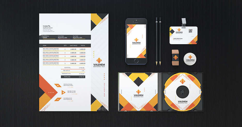 Professional Custom Stationery Design Service